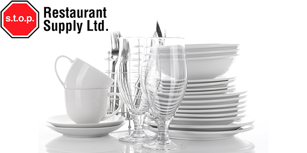 Stop Restaurant Supply Ltd. Logo and cutlery