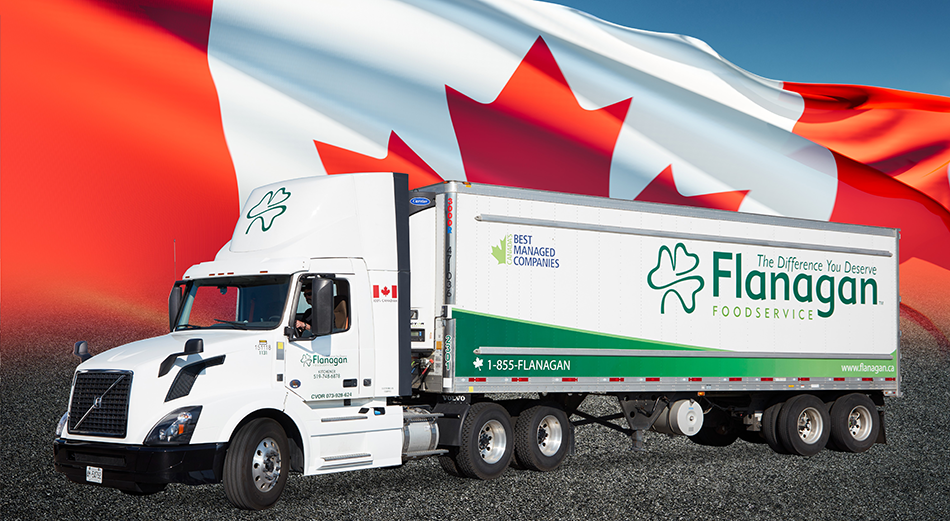 Flanagan Foodservice Truck with Canadian Flag