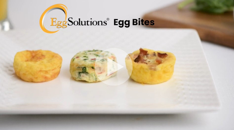 Egg Solutions Two Bit Egg Bites on a plate