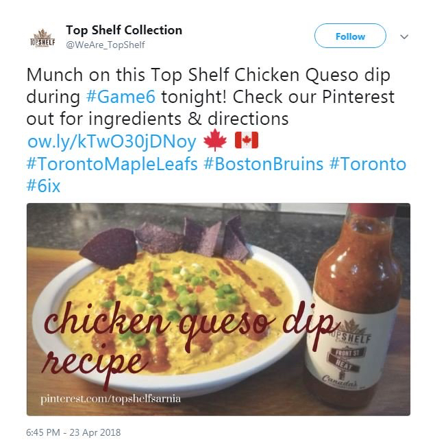 Example of social media post using hashtags to connect with audience