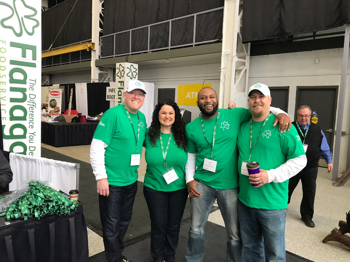 Smiling Flanagan Foodservice team at the annual spring show