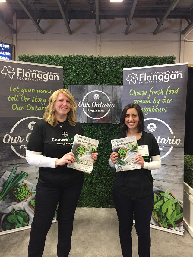 Jackie Oakes and Katrina Couto of Flanagan Foodservice