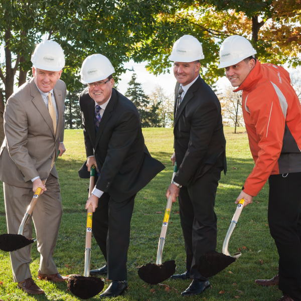 Groundbreaking photo for Flanagan Foodservice's Whitby distribution centre
