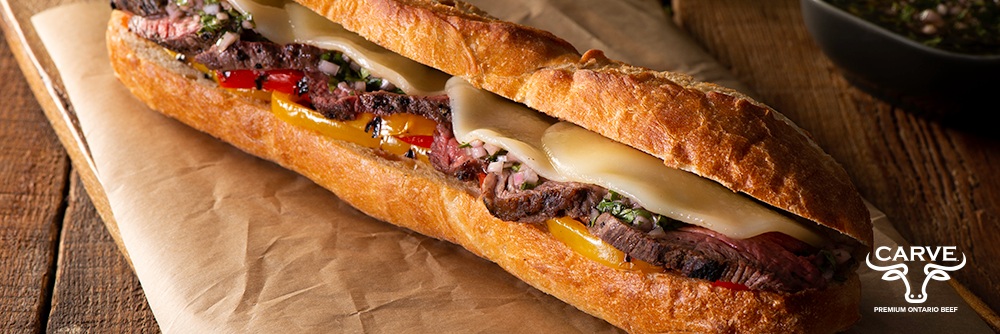 Carve Beef Argentinian Steak Sandwich Recipe Photo