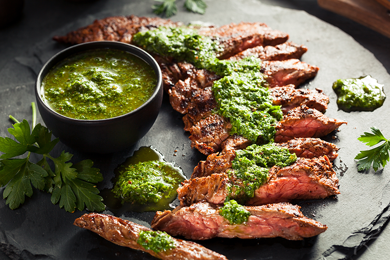 Coffee-Rubbed Teres Major with Chimichurri Sauce recipe photo