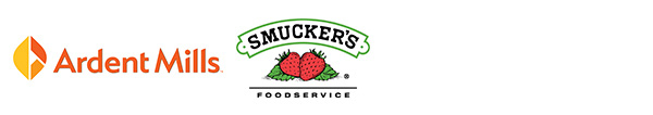 Ardent Mills logo and Smuckers Foodservice logo