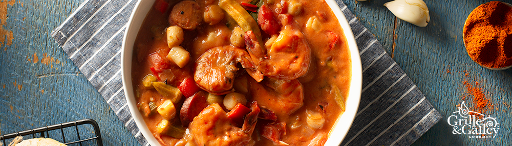 Grille and Galley Scallop and Andouille Gumbo with Shrimp Recipe Photo
