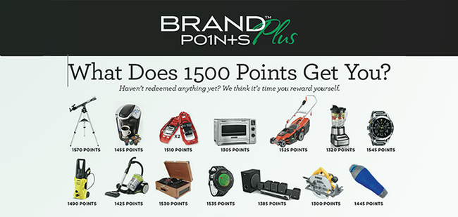 Brand Points Plus-Rewards you can get for points